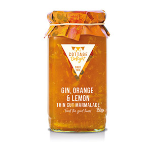 Cottage Delight Gin Orange & Lemon Thin Cut Marmalade