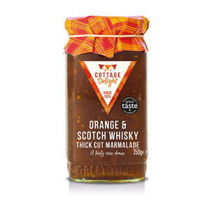 Cottage Delight Orange and Scotch Whisky Thick Cut Marmalade