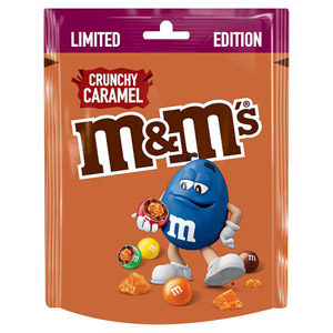 M&M's Limited Edition Crunchy Caramel Pouch