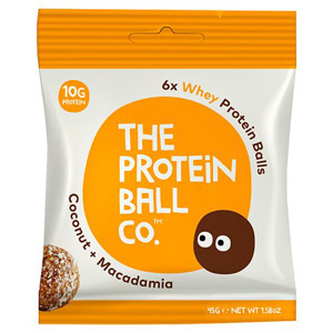 The Protein Ball Co Coconut and Macadamia Protein Balls