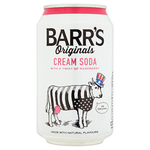 Barr Original Cream Soda With a Hint Of Raspberry