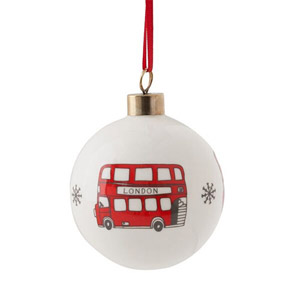 Victoria Eggs Simply London Bus Bauble