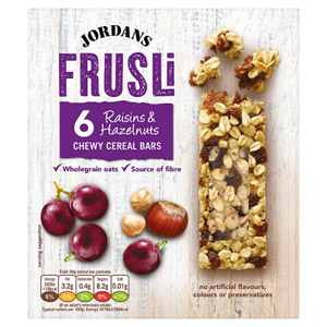 Jordans Frusli Bar Raisin and Hazelnut 6 Pack