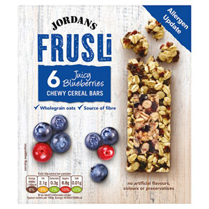 Jordans Frusli Bar Blueberry Burst 6 Pack