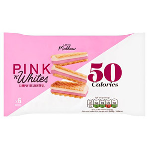 Caxton Pink and White Wafers 6 Pack