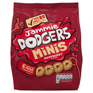 Burtons Mini Jammie Dodgers Snack Pack 6 Pack