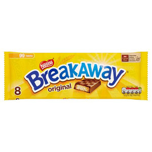 Nestle Breakaway Milk Choc 8 Pack
