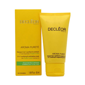 Decleor Aroma Purete 2 in 1 Purifying & Oxygenating Mask 50ml - Combination/Oily