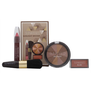 Sunkissed Sunlight Bronze Gift Set - Bronzing Powder + Blusher + Lip gloss + Bro