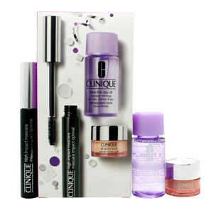 Clinique Gift Set 7ml High Impact Mascara - Black + 5ml All About Eyes Eye Cream