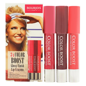 Bourjois Color Boost Gift Set 3 x Lip Crayon