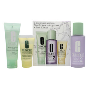 Clinique 3-Step Skincare Gift Set 50ml Liquid Facial Soap Dry Combination + 100m