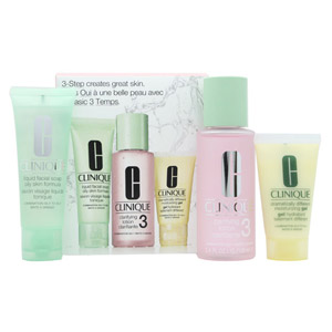 Clinique 3-Step Skincare Gift Set 50ml Liquid Facial Soap Oily Skin Formula + 10
