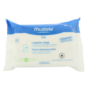 Mustela Bebe Facial Cleansing Cloths - 25 Cloths