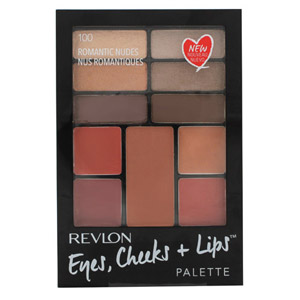 Revlon EyesE Cheeks + Lips Palette - 100 Romantic Nudes