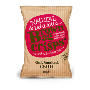 Brown Bag Crisps Oak Smoked Chilli