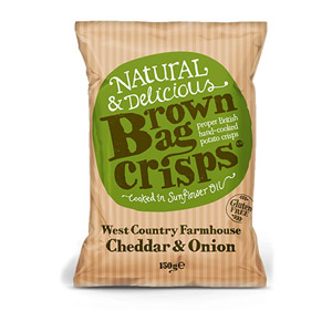 Brown Bag Crisps West Country Farmhouse Cheddar & Onion