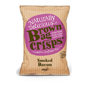 Brown Bag Crisps Smoked Bacon