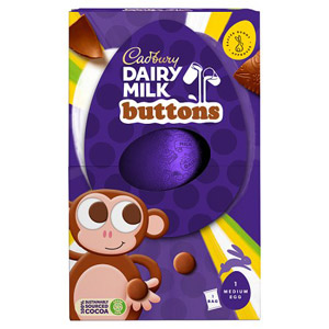 Cadbury Dairy Milk Buttons Easter Egg Medium