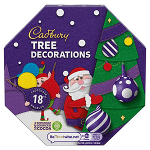 cadbury dairy milk parcel tree decorations - British Christmas Tree Decorations
