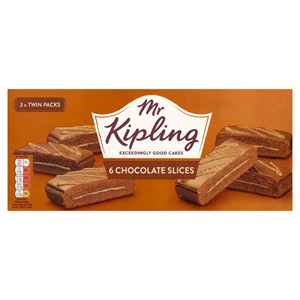Mr Kipling Chocolate Slices 6 Pack