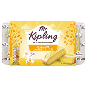 Mr Kipling Lemon Layer Slices 6 Pack