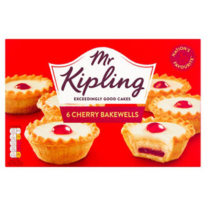 Mr Kipling Cherry Bakewells 6 Pack