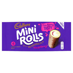 Cadburys Raspberry Jam Mini Rolls 5 Pack