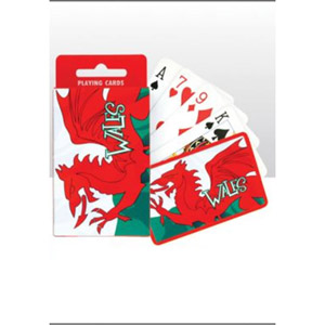 Welsh Flags Wavy Playing Cards