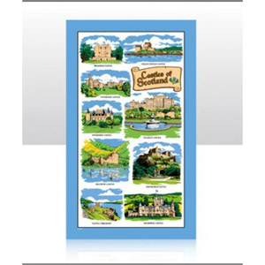 Scotland Castles Tea Towel