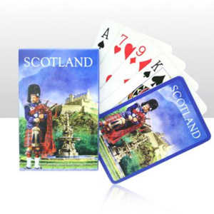 Scotland Piper Scene Playing Cards