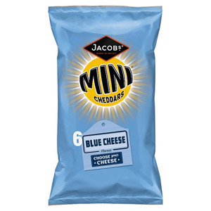 Mini Cheddars Blue Cheese 6 Pack