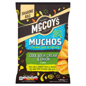 McCoys Muchos Cool Sour Cream and Onion Flavour