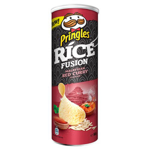 Pringles Rice Fusion Malaysian Red Curry Flavour