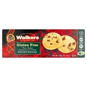 Walkers Gluten Free Chocolate Chip Shortbread