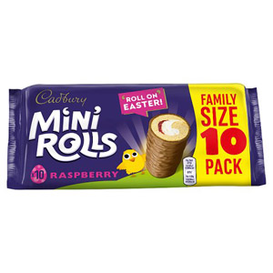 Cadburys Raspberry Mini Rolls 10 Pack