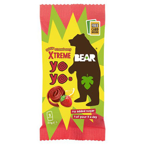 Bear Pure Super Sour Yoyo's Strawberry & Apple