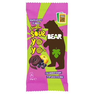 Bear Pure Super Sour Yoyo's Apple & Blackcurrant