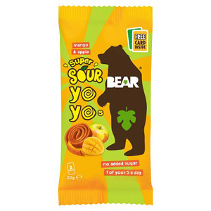 Bear Pure Super Sour Yoyo's Mango and Apple