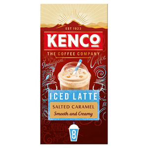Kenco Iced Latte Salted Caramel Instant Coffee 8 Sachets