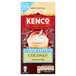 Kenco Iced Latte Coconut Instant Coffee 8 Sachets