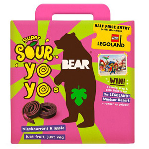 Bear Fruit Super Sour Yoyo's Apple & Blackcurrant 5 Pack