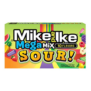 Mike and Ike Mega Mix Sours Box