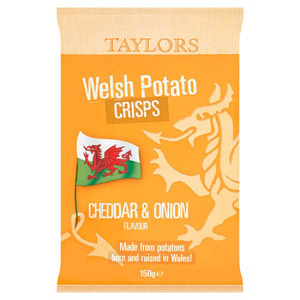 Taylors Cheddar & Onion Welsh Crisps