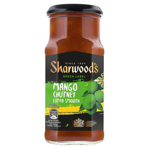 Sharwoods Green Lable Mango Chutney Extra Smooth
