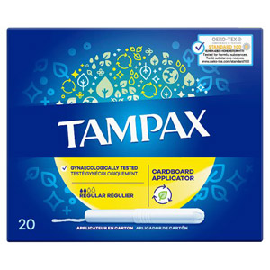 Tampax Tampons Applicator Regular 20 Pack