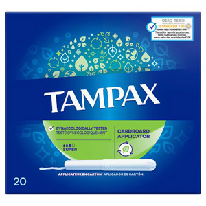 Tampax Tampons Applicator Super 20 Pack
