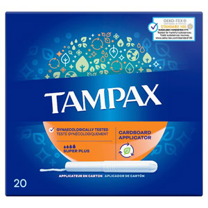 Tampax Tampons Applicator Super Plus 20 Pack
