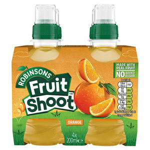 Robinsons Fruit Shoot No Added Sugar Orange 4 Pack