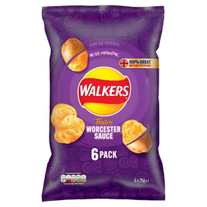 Walkers Worcester Sauce Crisps 6 Pack